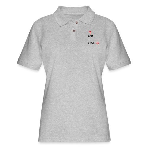 Cool Vs. Stupid - Women's Pique Polo Shirt