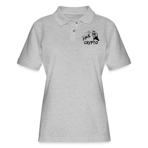 CryptoBattle Black - Women's Pique Polo Shirt
