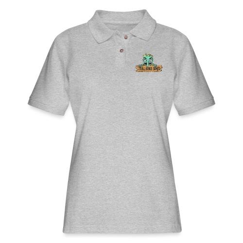 Troll House Games Cartoon Logo - Women's Pique Polo Shirt
