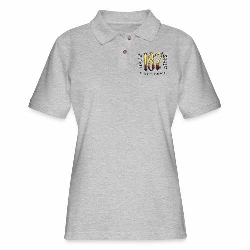 Coloured Trevor Loomes 187 Fight Gear Logo - Women's Pique Polo Shirt
