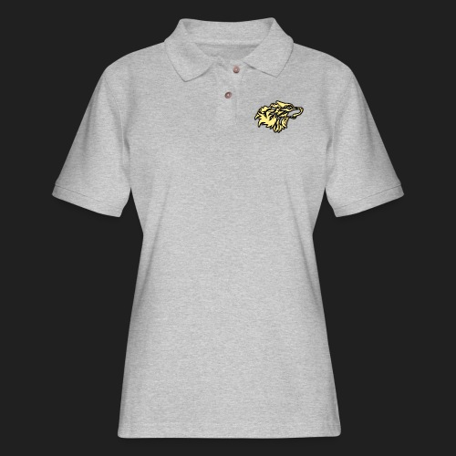 wolfepacklogobeige png - Women's Pique Polo Shirt