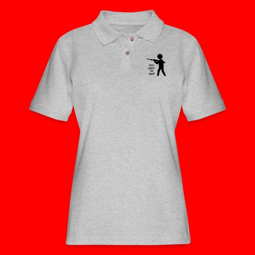 OxyGang: Too Legit To Quit Products - Women's Pique Polo Shirt