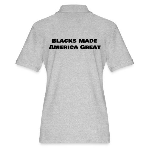 (blacks_made_america) - Women's Pique Polo Shirt