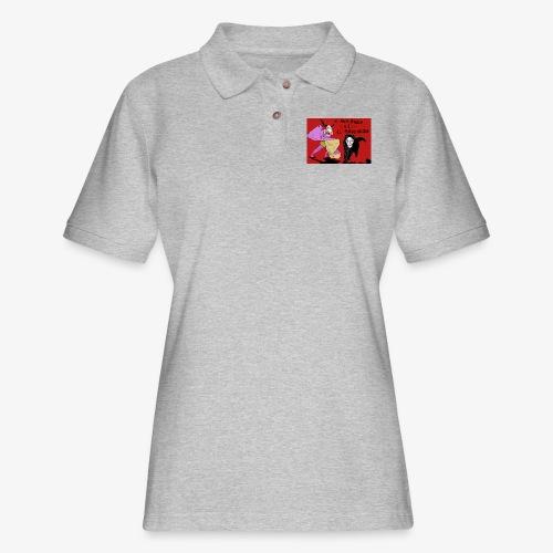 EL GUAPO DIABLO LVS. EL PERRO NEGRO - Women's Pique Polo Shirt