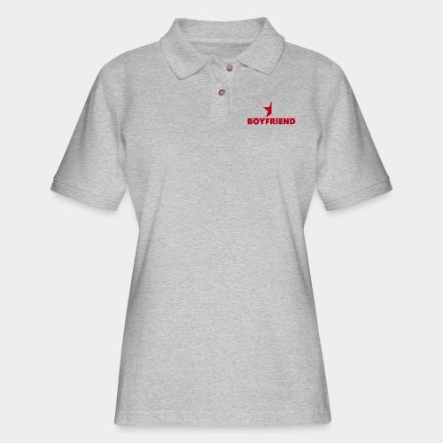 Half-Star Boyfriend - Women's Pique Polo Shirt
