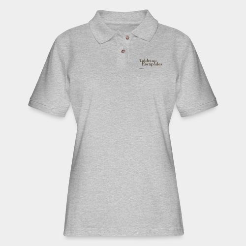 Tabletop Escapades Logo - Women's Pique Polo Shirt