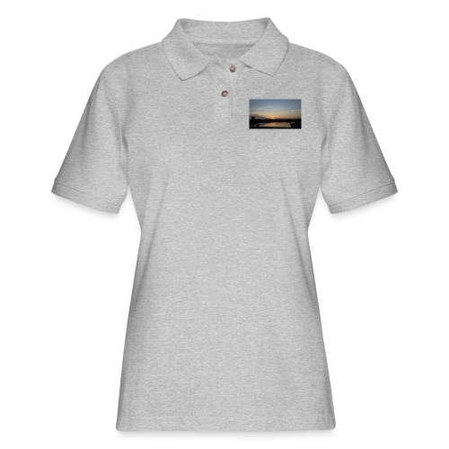 Sunset on the Water - Women's Pique Polo Shirt