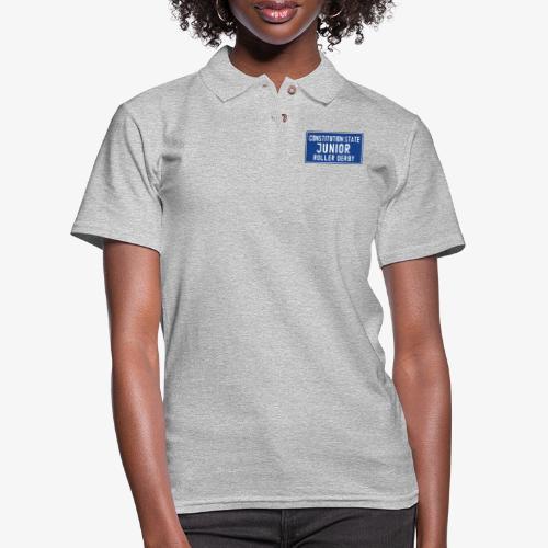 Constitution State Junior Roller Derby - Women's Pique Polo Shirt