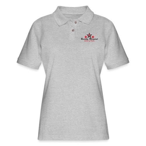 on white plus size - Women's Pique Polo Shirt