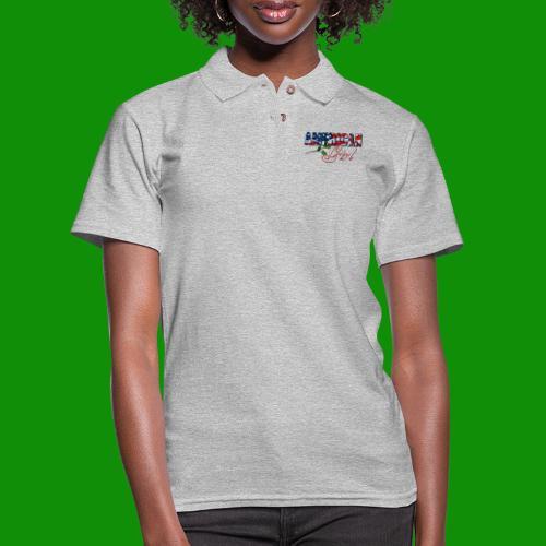 AMERICAN GIRL - Women's Pique Polo Shirt