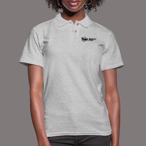 RMA-full-logo-Front-1clr- - Women's Pique Polo Shirt