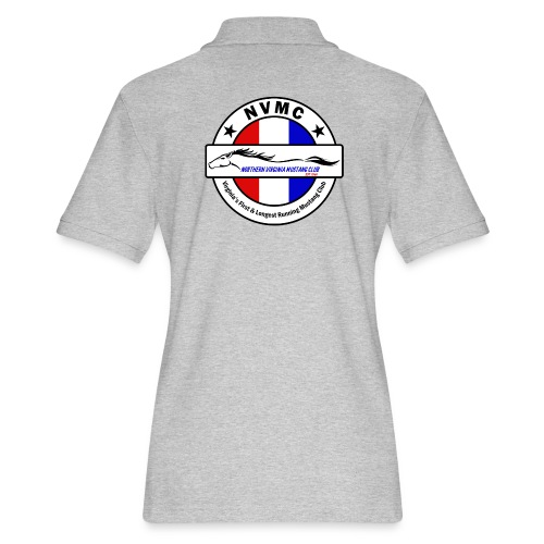 Circle logo t-shirt on white with black border - Women's Pique Polo Shirt