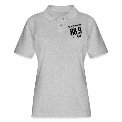 Alternation Slant Logo - Women's Pique Polo Shirt