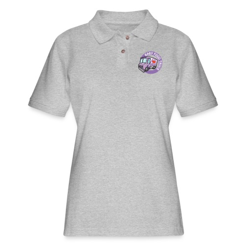 Purple baby food truck - Women's Pique Polo Shirt