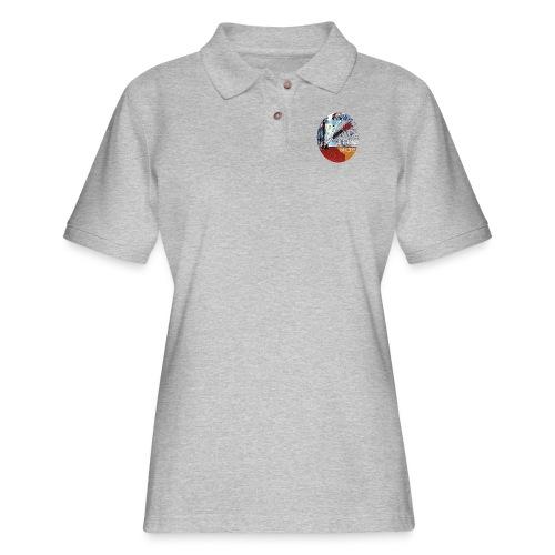 US circle 2 - Women's Pique Polo Shirt