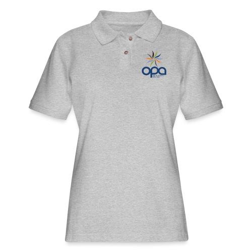 Long-sleeve t-shirt with full color OPA logo - Women's Pique Polo Shirt