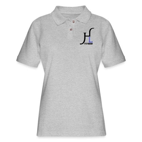 HIIT Life Fitness Logo Purple - Women's Pique Polo Shirt