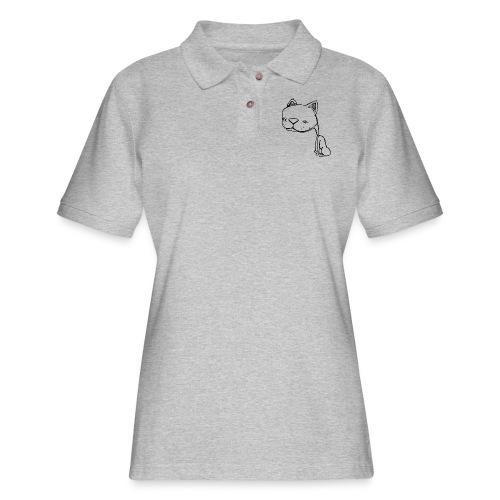 Meowy Wowie - Women's Pique Polo Shirt