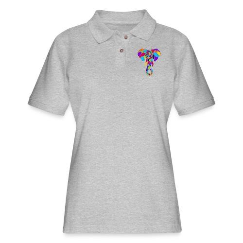 Art Deco elephant - Women's Pique Polo Shirt