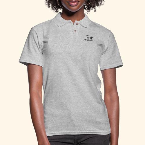 girls best friend Paw Print - Women's Pique Polo Shirt