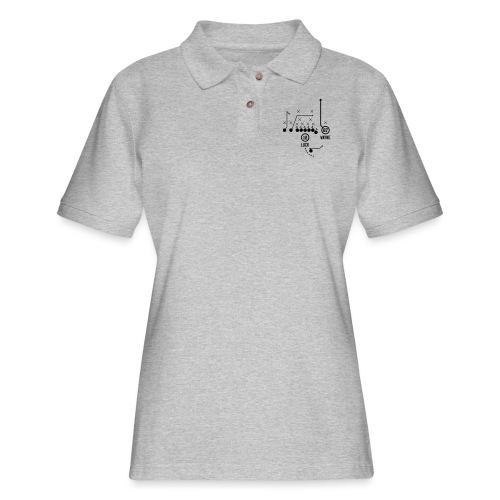 X O Andrew Luck to Reggie Wayne - Women's Pique Polo Shirt