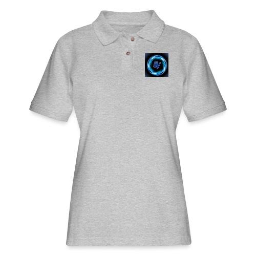 MY YOUTUBE LOGO 3 - Women's Pique Polo Shirt