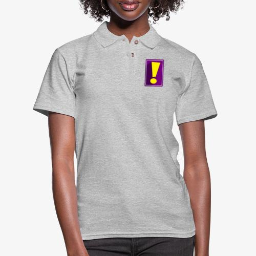 Purple Whee! Shadow Exclamation Point - Women's Pique Polo Shirt