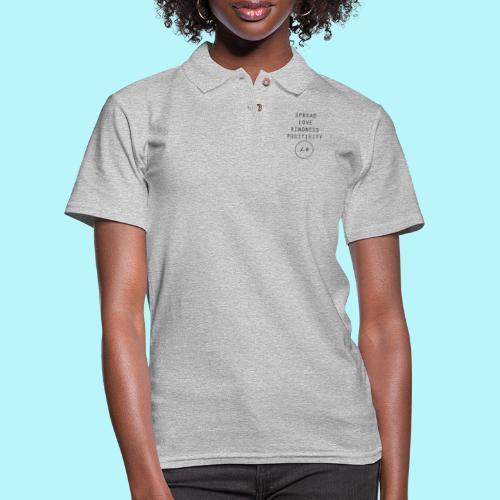 Spread Love , Kindness & Positivity - Women's Pique Polo Shirt