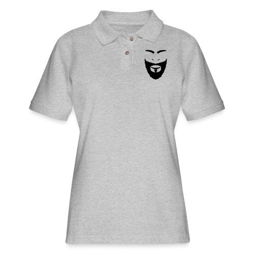 FACES_BEARD - Women's Pique Polo Shirt