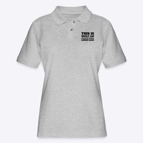 This is What An Awesome Nomad Looks Like - Women's Pique Polo Shirt