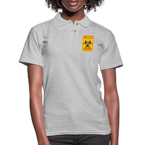 Be aware! Coronavirus biohazard warning sign - Women's Pique Polo Shirt