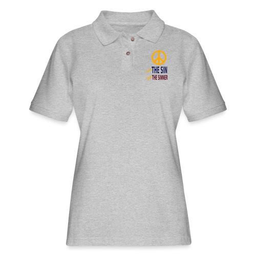 Hate the Sin Love the Sinner - Women's Pique Polo Shirt