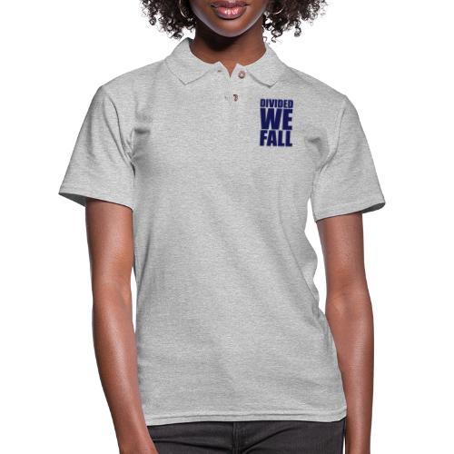 DIVIDED WE FALL - Women's Pique Polo Shirt