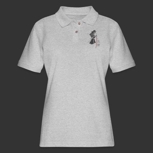 Samurai (Digital Print) - Women's Pique Polo Shirt