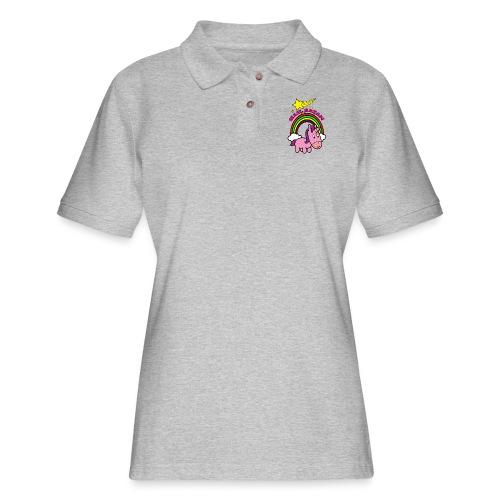 Hail Satan - cute - Women's Pique Polo Shirt