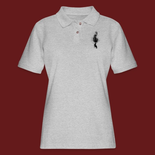 TransforMax (Black) - Women's Pique Polo Shirt