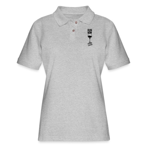Run Now Gym Motivation - Women's Pique Polo Shirt