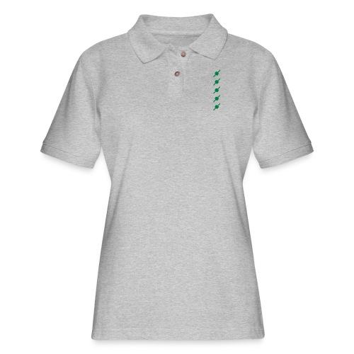 fivehex vector - Women's Pique Polo Shirt