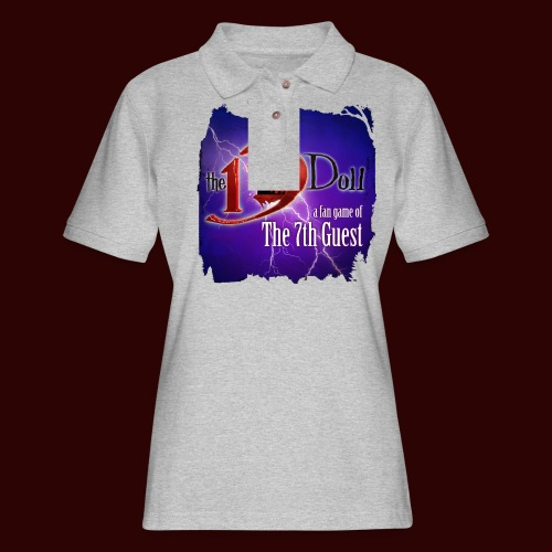 The 13th Doll Logo With Lightning - Women's Pique Polo Shirt