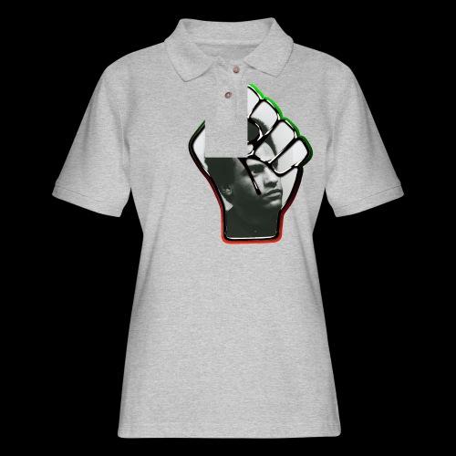 Huey Newton RBG Fist - Women's Pique Polo Shirt
