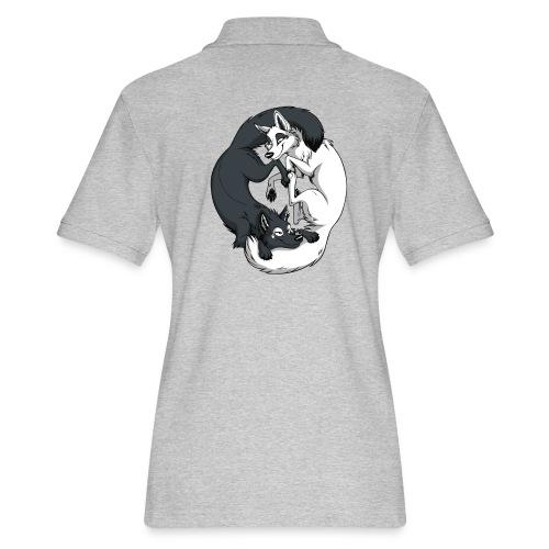 Yin Yang Foxes - Women's Pique Polo Shirt