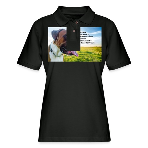 Until one has loved an animal - Women's Pique Polo Shirt