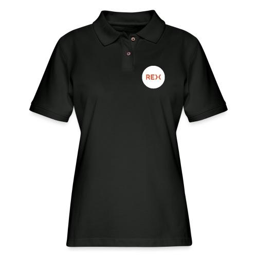 REX Circle Logo - Women's Pique Polo Shirt