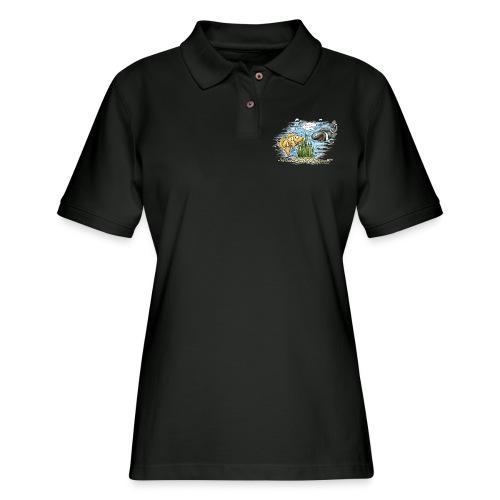 when clownfishes meet - Women's Pique Polo Shirt