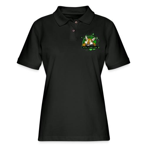 Beer-o-Clock Fox - Women's Pique Polo Shirt