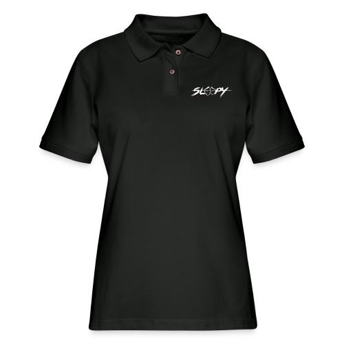 Sleepy Logo White - Women's Pique Polo Shirt
