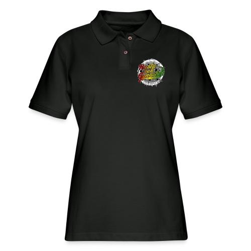 Rasta nuh Gangsta - Women's Pique Polo Shirt