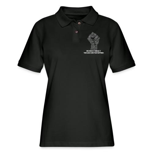 Never Forget - Women's Pique Polo Shirt