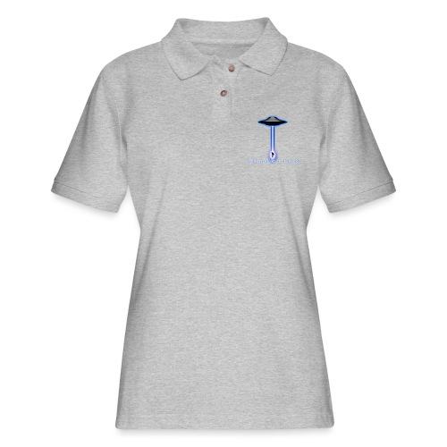 UFO Abduction 3D - Women's Pique Polo Shirt