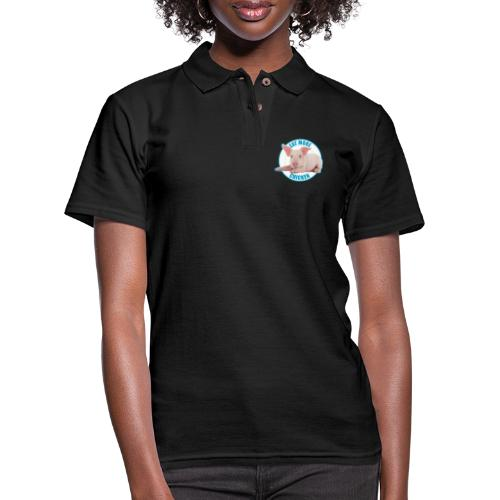 Eat more chicken - Sweet piglet print - Women's Pique Polo Shirt